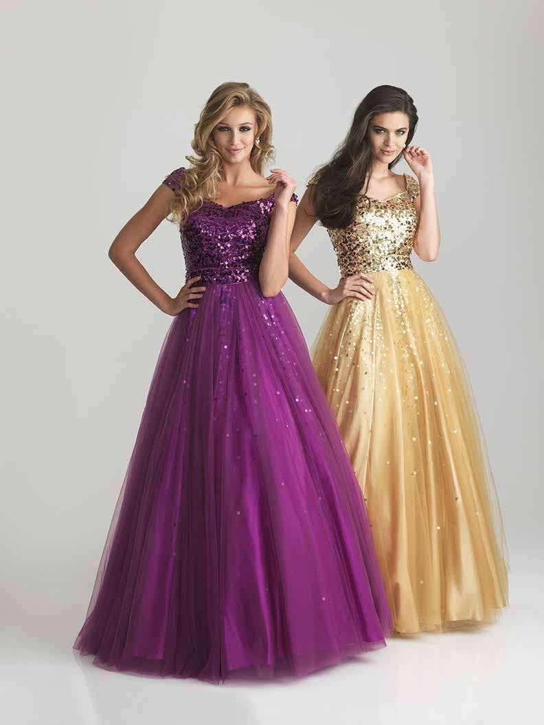 Night Moves Modest Prom 6810M | So CHIC | Pinterest | Vestido dorado ...