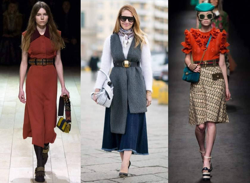 aking cues from the runways to the street style of Fall 2016 fashion weeks its evident that wide belts are back with a big bang.  Shop more on shop.addresschic.com
