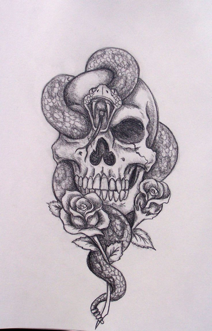 Skull And Snake Tattoo Designs 35+ Amazing Skull And Snake ...