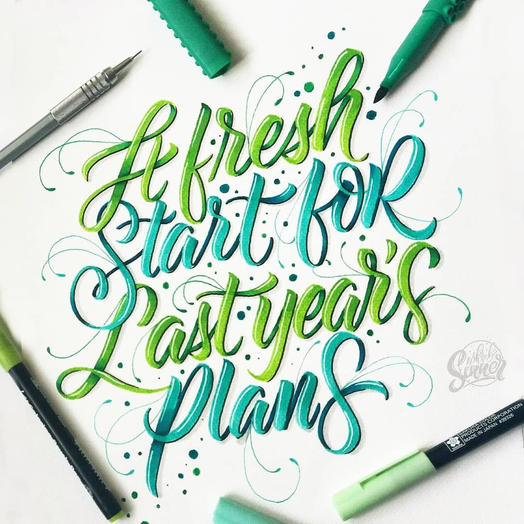 New Year But Old Plans Lettering Letteringph