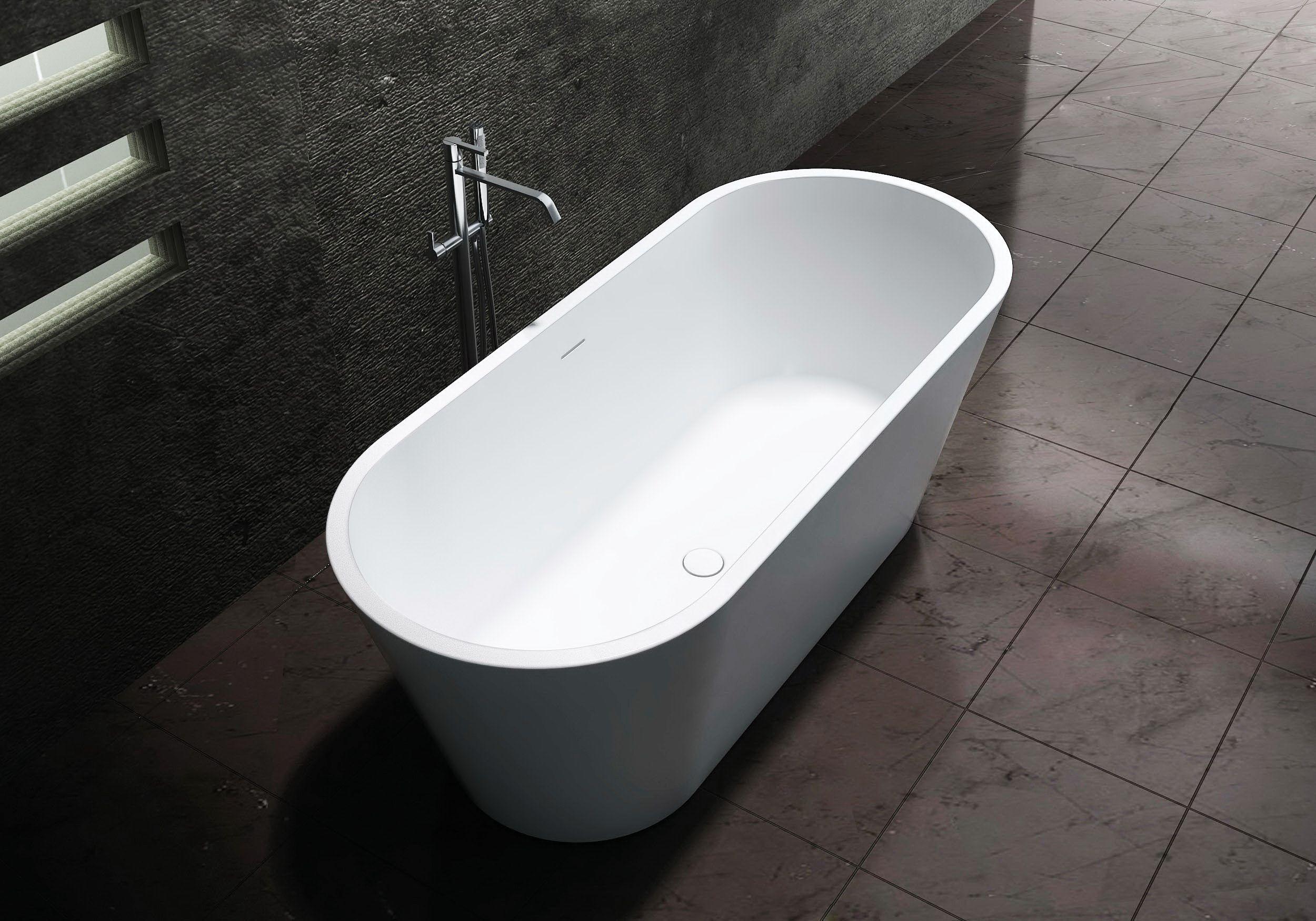 Salle De Bain Vasque Ilot ~ baignoire lot en pierre solide solid surface almeria stone blanc