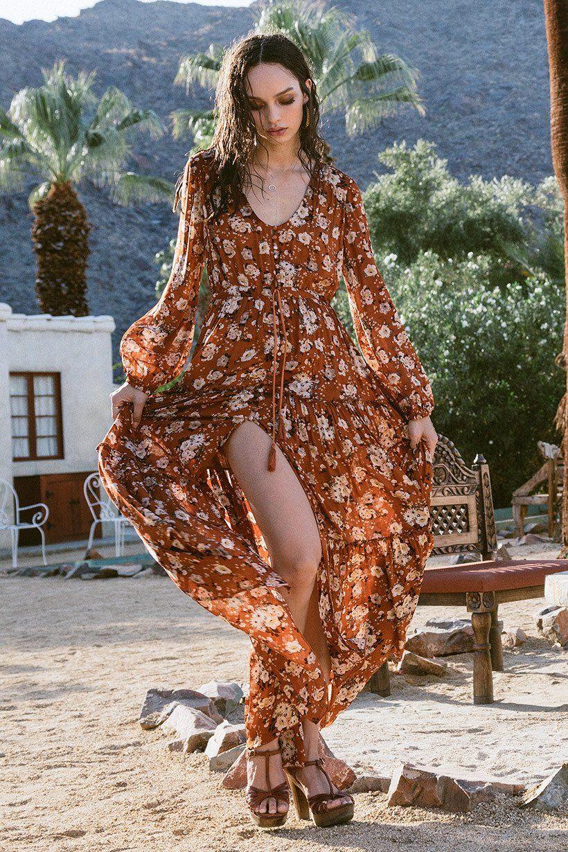 Aqua maple maxi kimono dress