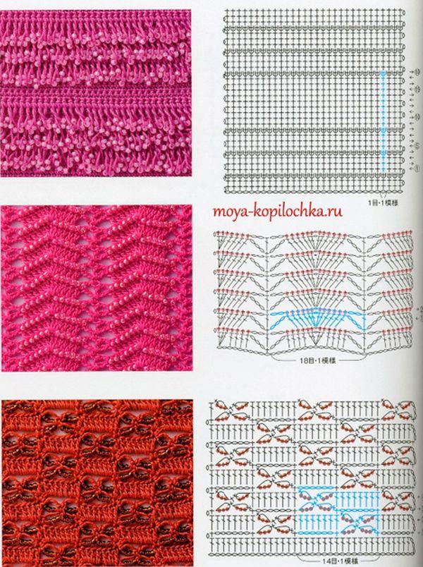 Colección de patrones y motivos, los de punto   Chales y ponchos ...