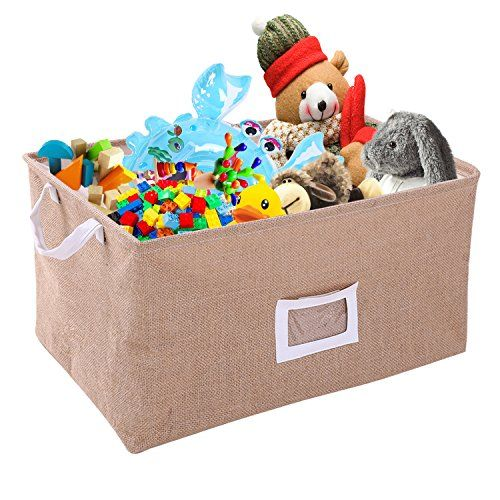 [Toy Storage Ideas] VOLJEE Foldable Canvas Storage Bins Baby Toy Organizers  ** You Can Find Out More Details At The Link Of The Image.