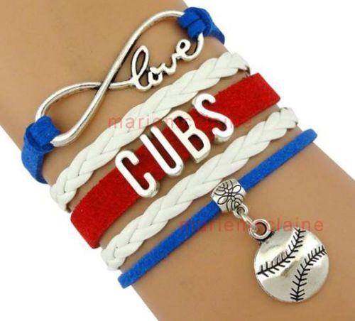 Chicago Cubs Mlb Bracelet Baseball Infinity Love Team Sports