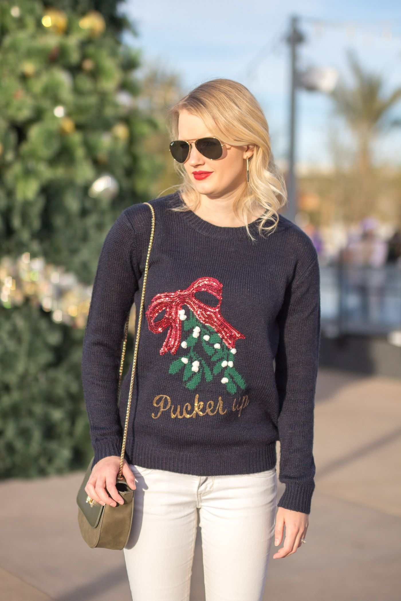 How To Style An Ugly Christmas Sweater | Outfit Ideas from Jamie ...