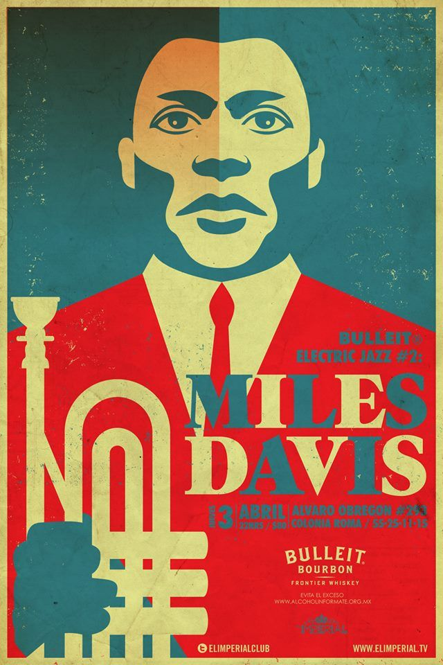 Miles Davis? Don't really see the resemblance. Nice poster though.