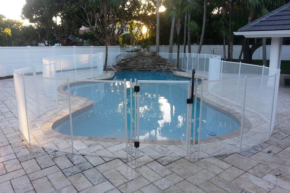 White Pool Fence Diy pool fence, Pool fence, Fence