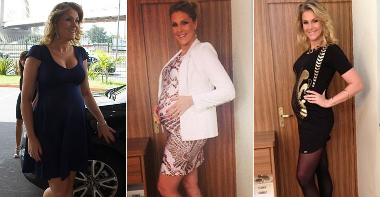 Os looks de grávida da futura mamãe Ana Hickmann