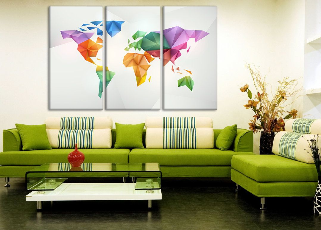 Contemporary map geometric map world maps poster modern world map contemporary map geometric map world maps poster modern world map polygonal map printable world map world map canvas polygonal world map gumiabroncs Images