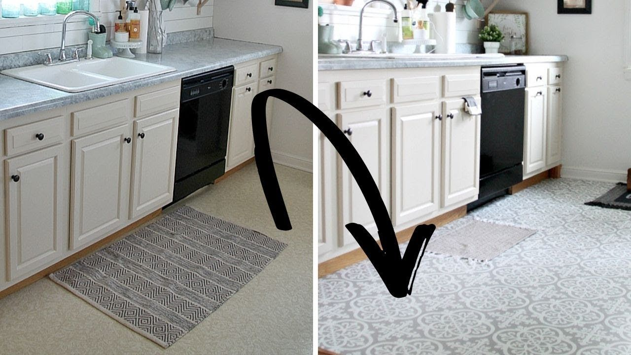 How To Use Peel And Stick Vinyl Tile To Transform Your Floors The Crazy Craft Lady Youtube In 2020 Peel And Stick Vinyl Vinyl Flooring Vinyl Tile