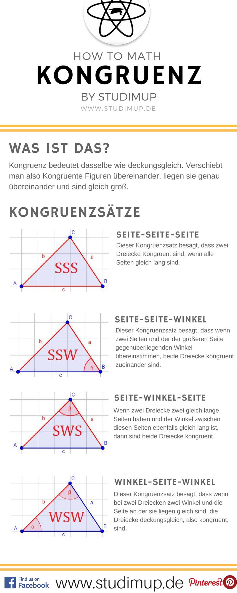 Kongruenz ist ein wichtiger Begriff in der Geometrie. Hier habt ihr ...