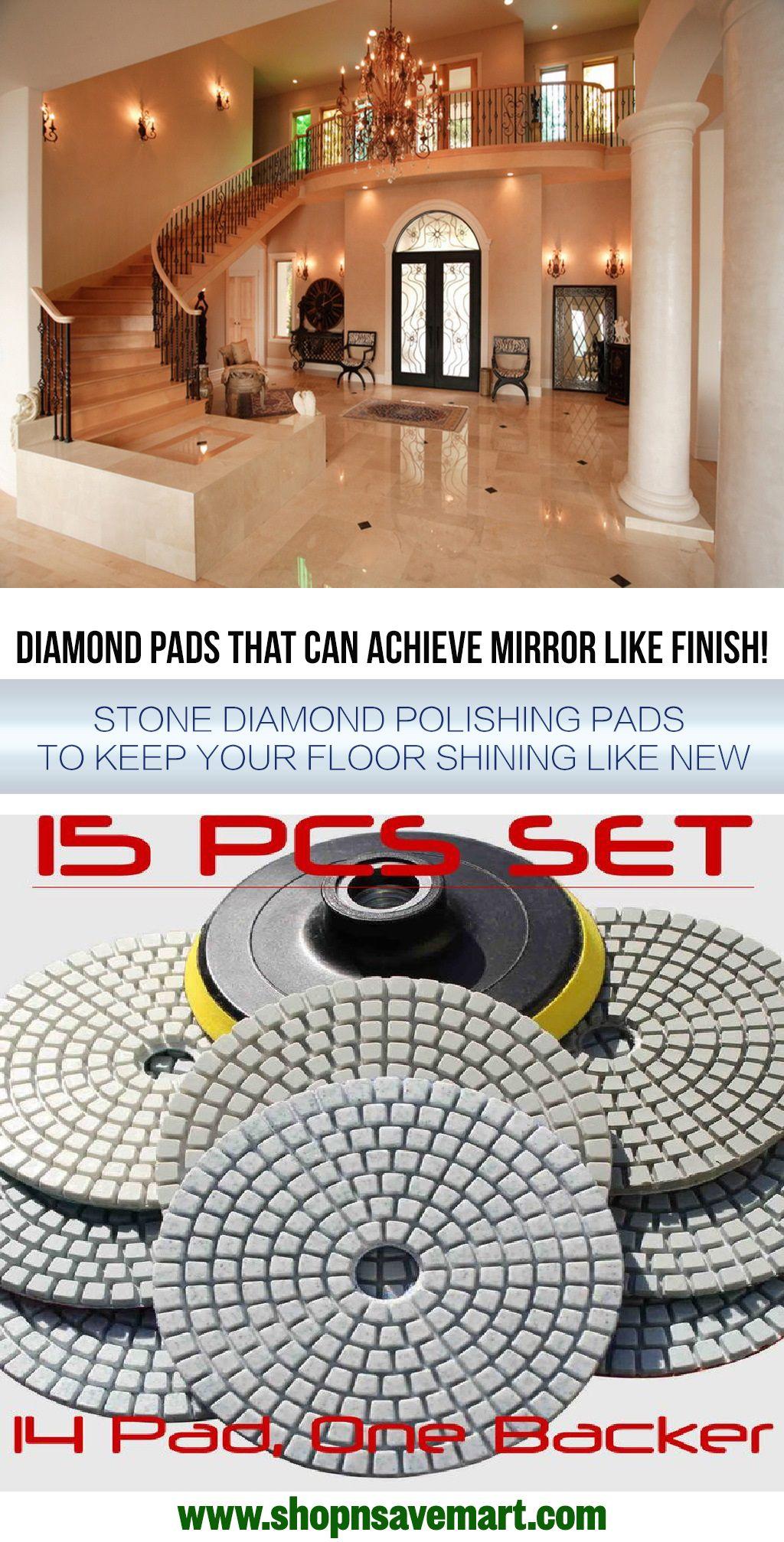 "4/"" Diamond polishing 15 Pad 4 Finishing Buff Granite Stone Concrete Marble Glass"
