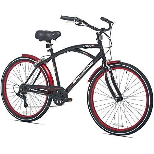 26 Inch Kent Bicycles 7 Speed Aluminum Frame Cruiser Bike For Men Black Check Out The Image By Visiting The Link Cruiser Bike Beach Bicycle Bicycle