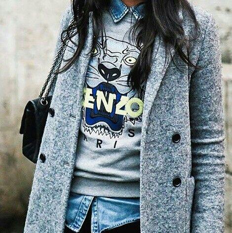 kenzo sweatshirt grau damen