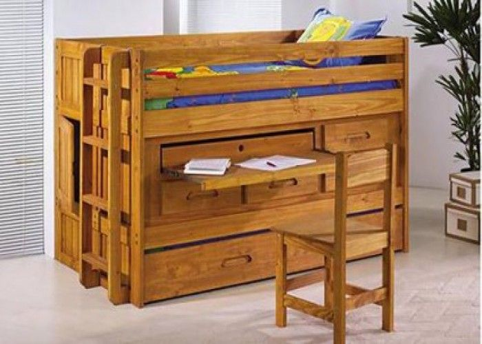 550 Discovery Jr Loft Bed Twin Trundle Desk Storage And