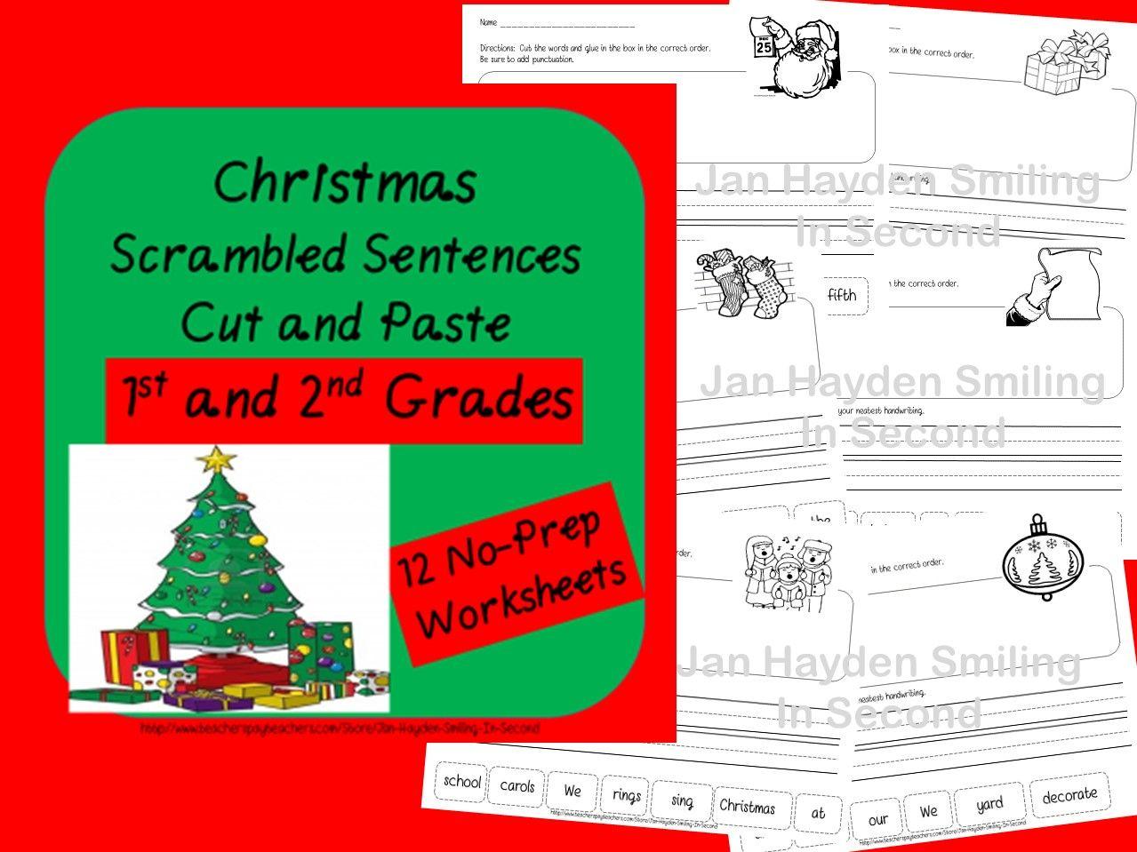 Christmas Cut And Paste Sentences