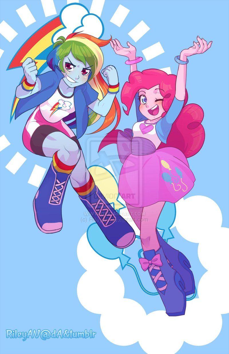 Rainbow Dash Pinkie Pie EQ Poster by =RileyAV on ...