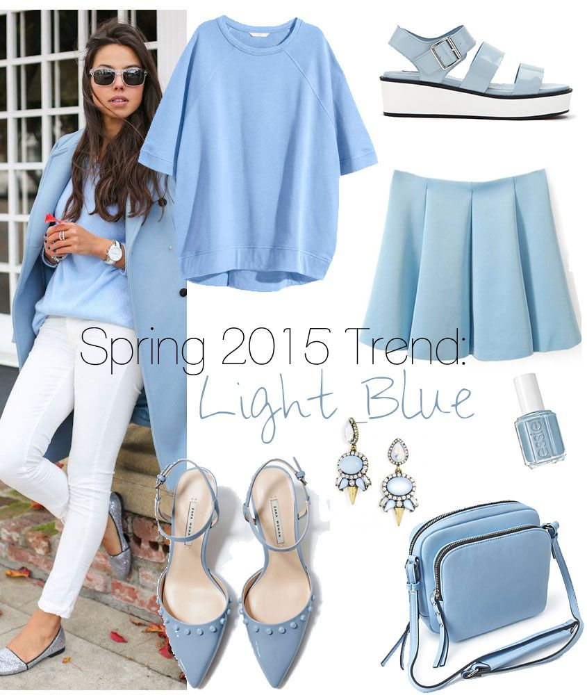 Spring 2015 Trend: Light Blue - The Budget Babe★★Timothy John Designs★★◀http://timothyjohndesigns.com◀FIND US @ FACEBOOK◀TWITTER◀INSTAGRAM! semiprecious jewelry necklace earrings bracelets trendy luxurious handcrafted made in NYC USA~!