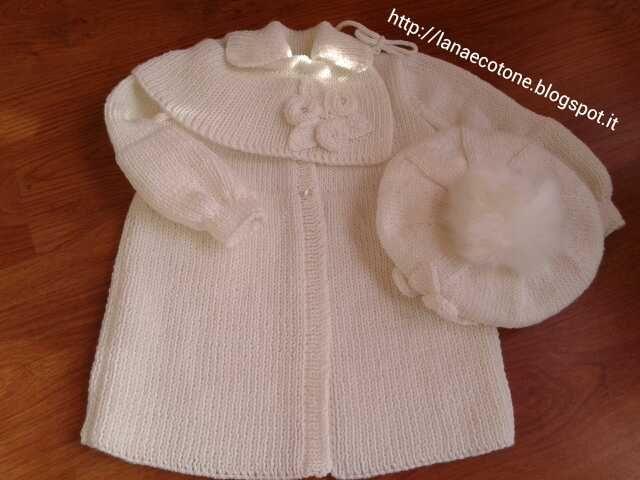 90dd33da81 Lana e Cotone (maglia e uncinetto)   Abito da battesimo   Uncinetto ...