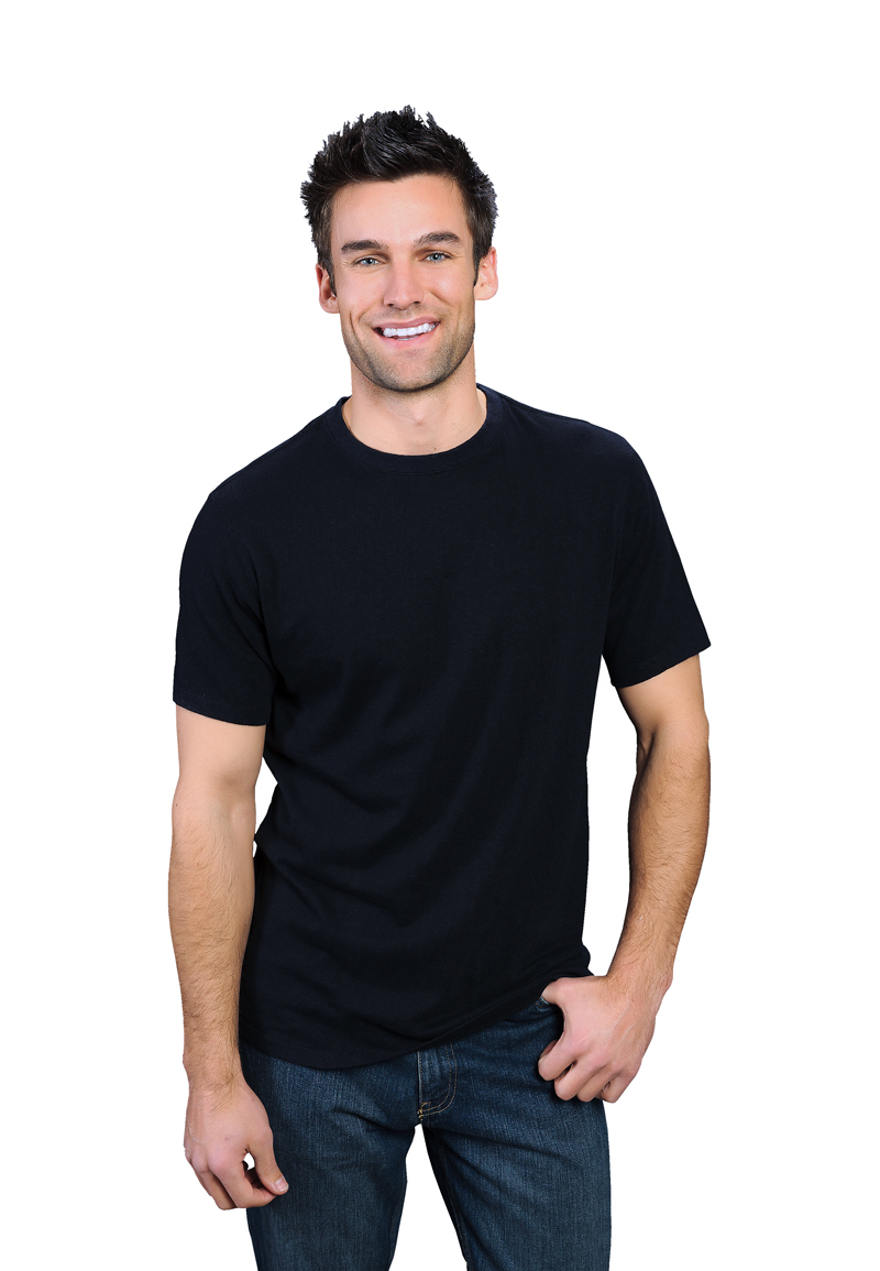 black ONNO bamboo and organic cotton t-shirt for men. Nothing ...