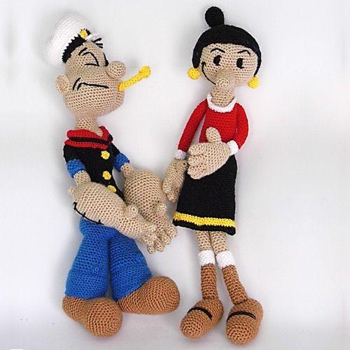 Amigurumi Monkey Patron Gratis : Patron Popeye y Olivia Amigurumi Personajes Pinterest ...