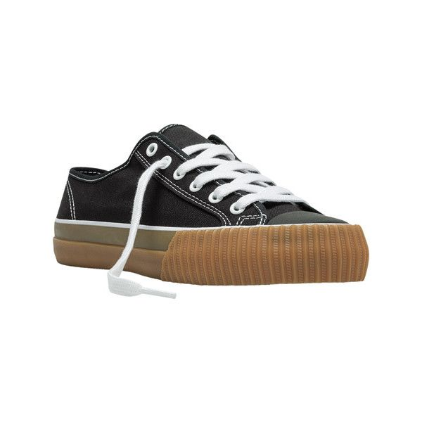 PF Flyers Center Lo - Black/Gum Canvas Originals ($55) ❤ liked on