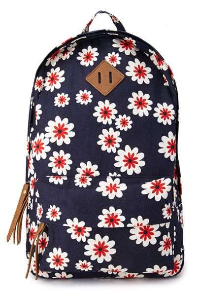 School Bags - Book Bag Styles And Satchels | Flower prints, Print ...