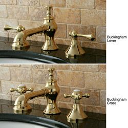 French Country Widespread Polished Br Bathroom Faucet
