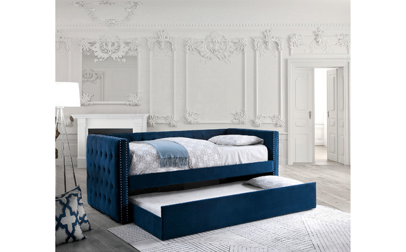 Susanna Navy Daybed Daybed With Trundle Twin Daybed With Trundle Daybed With Trundle Bed