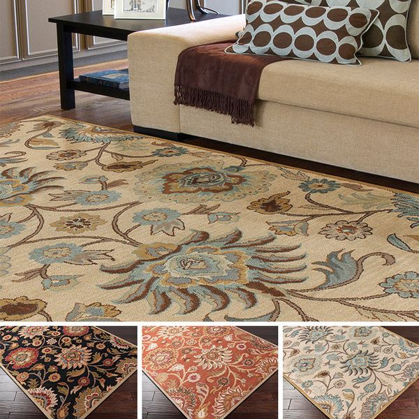Hand Tufted Alameda Traditional Fl Wool Area Rug 9 X 12 Ping Great Deals On 7x9 10x14 Rugs