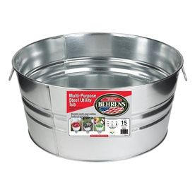 Shop Behrens 15 Gallon Steel Double Bucket At Lowe S Steel Tub Galvanized Wash Tub Metal Tub