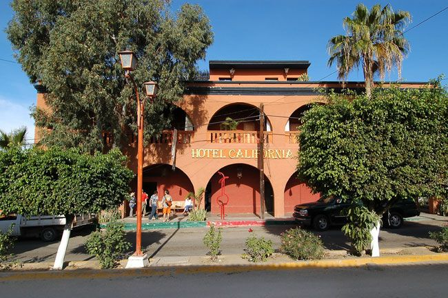 Street View Of World Famous Hotel California In Todos Santos The