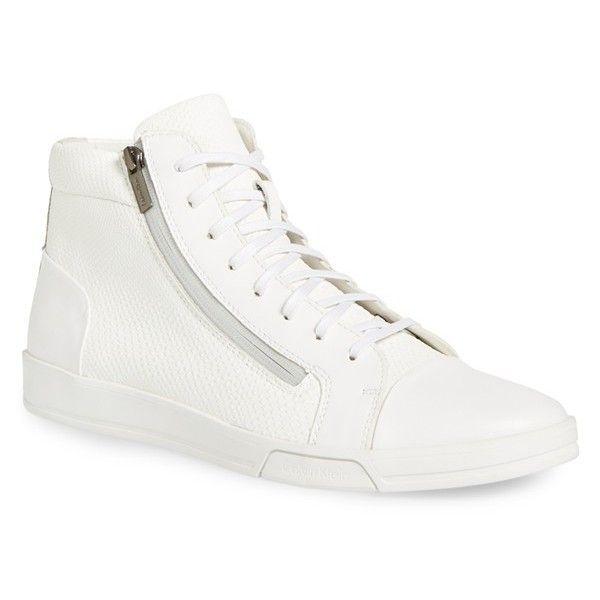 Calvin Klein  Men's Cash Nylon/Shiny Calf Low-Top Sneakers DC_5097