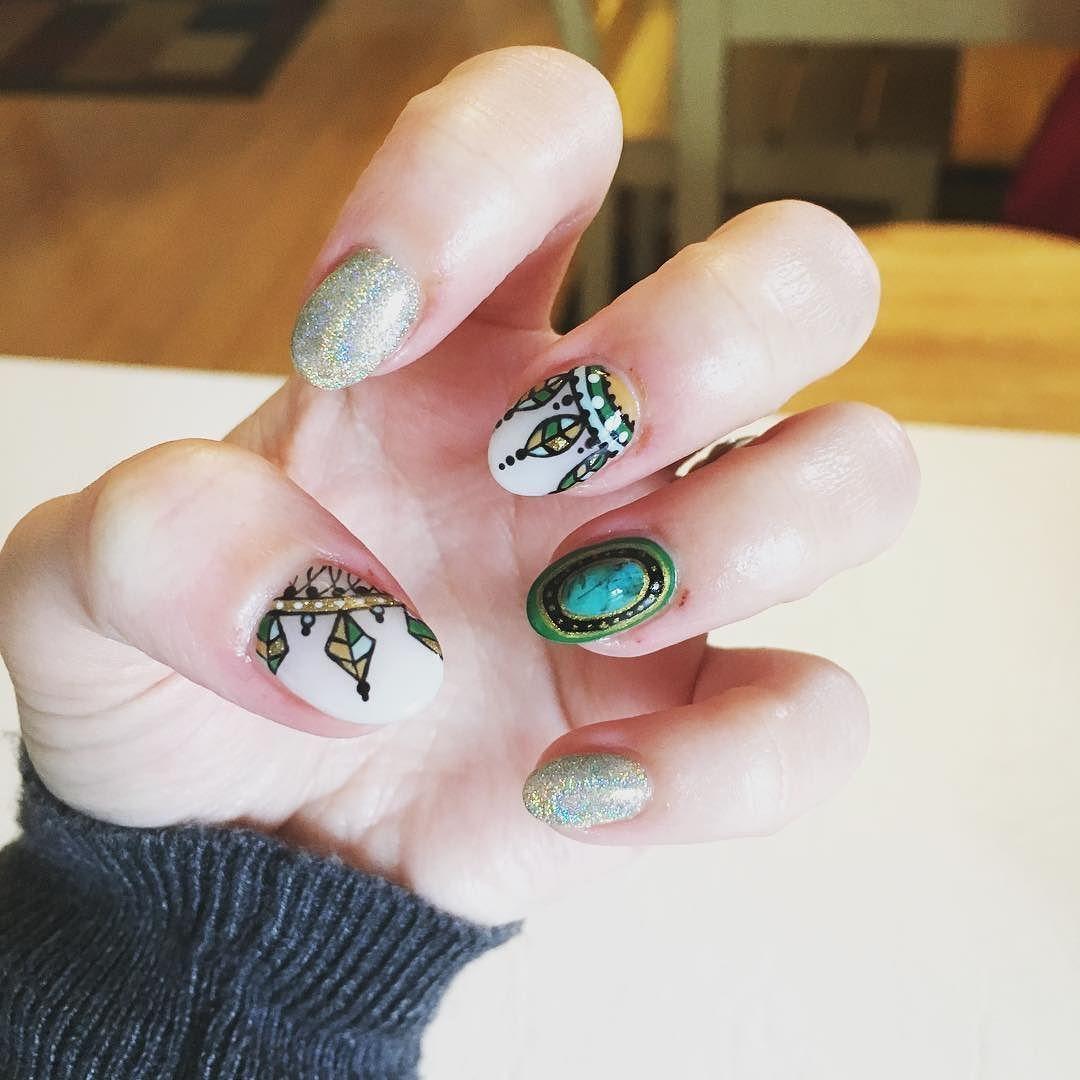 went boho glam for my newest mani  by laqueredbylymari