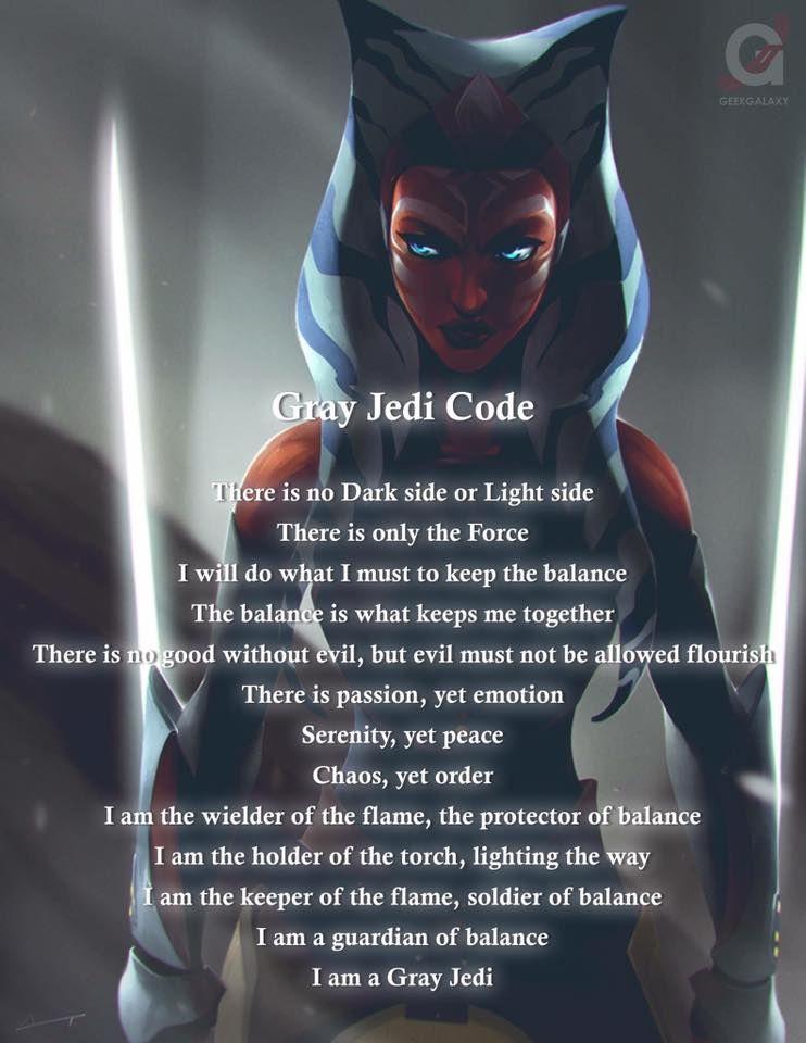 Ahsoka (Grey Jedi Code) | Heroes | Star wars history, Gray
