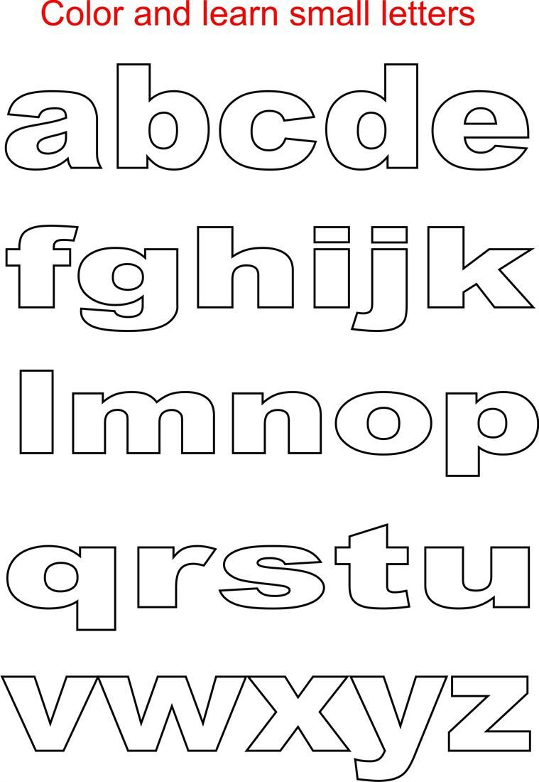 Alphabet Stencil Coloring Pages : Small letters coloring printable page for kids alphabets