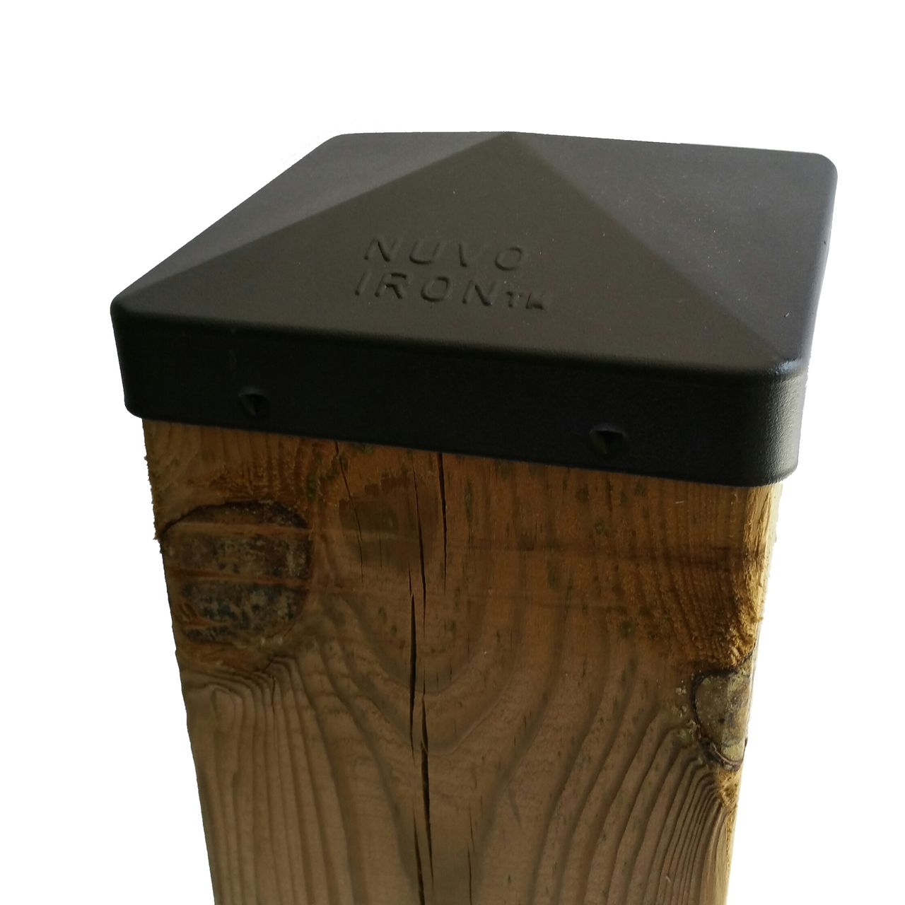 Nuvo Iron 5 5 X 5 5 Post Cap Nominal 6x6 For Posts With Rounded Corners Black Pcp12blk Post Cap Metal Post Caps Wooden Posts