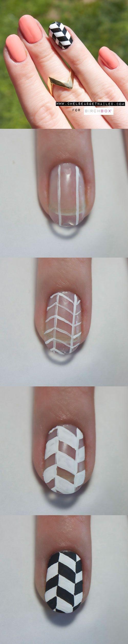 chevron nail art nicolson.araya
