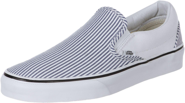 striped vans slip striped shoes