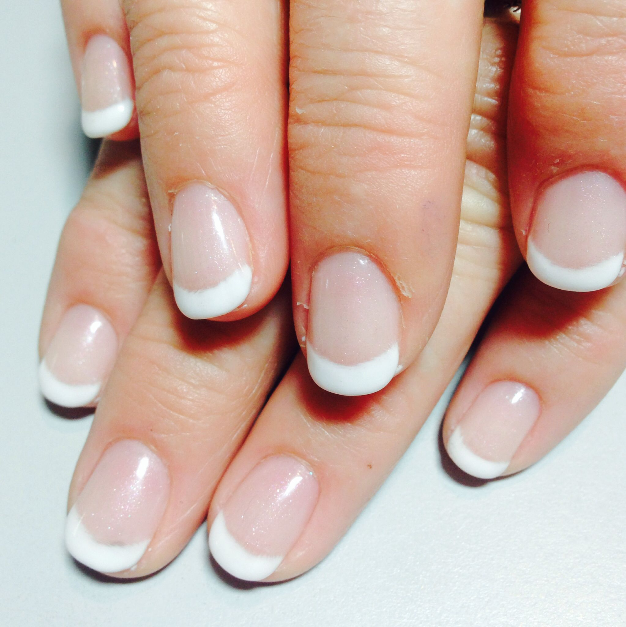 Short Rounded French Nails Wedding Nails French French Tip Acrylic Nails French Tip Nails