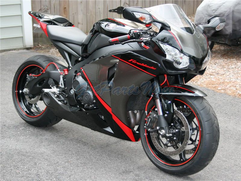 Injection Silver Black Red Plastic Fairing Fit for Honda 2008-2011 ...