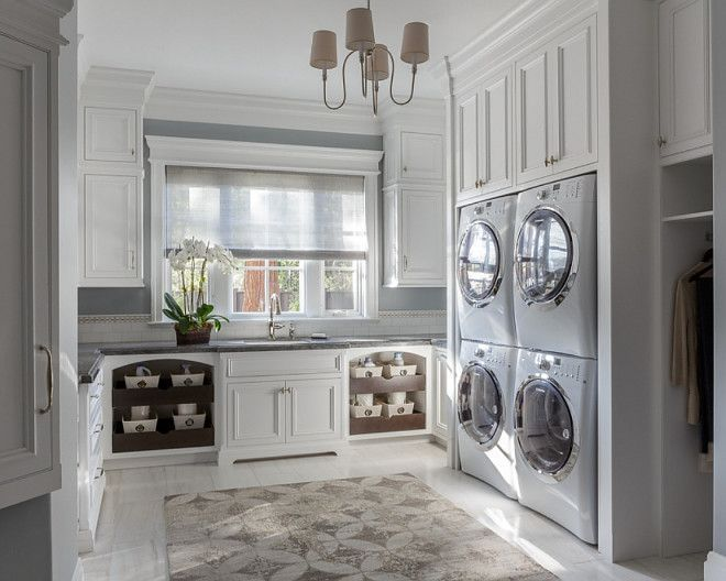 Organized And Light This Double Duty Laundry Room Is Ideal For A