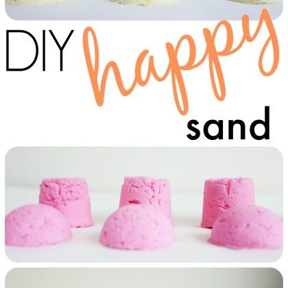 This happy sand is so simple you'll wonder why you didn't make it sooner and your kids will thank you for it! For this sand, I like to make a lot and store it