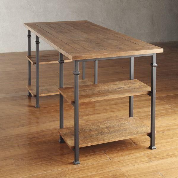 Industrial Rustic Distressed Writing Home Office Desk Metal U0026 Wood New  #RusticPrimitive