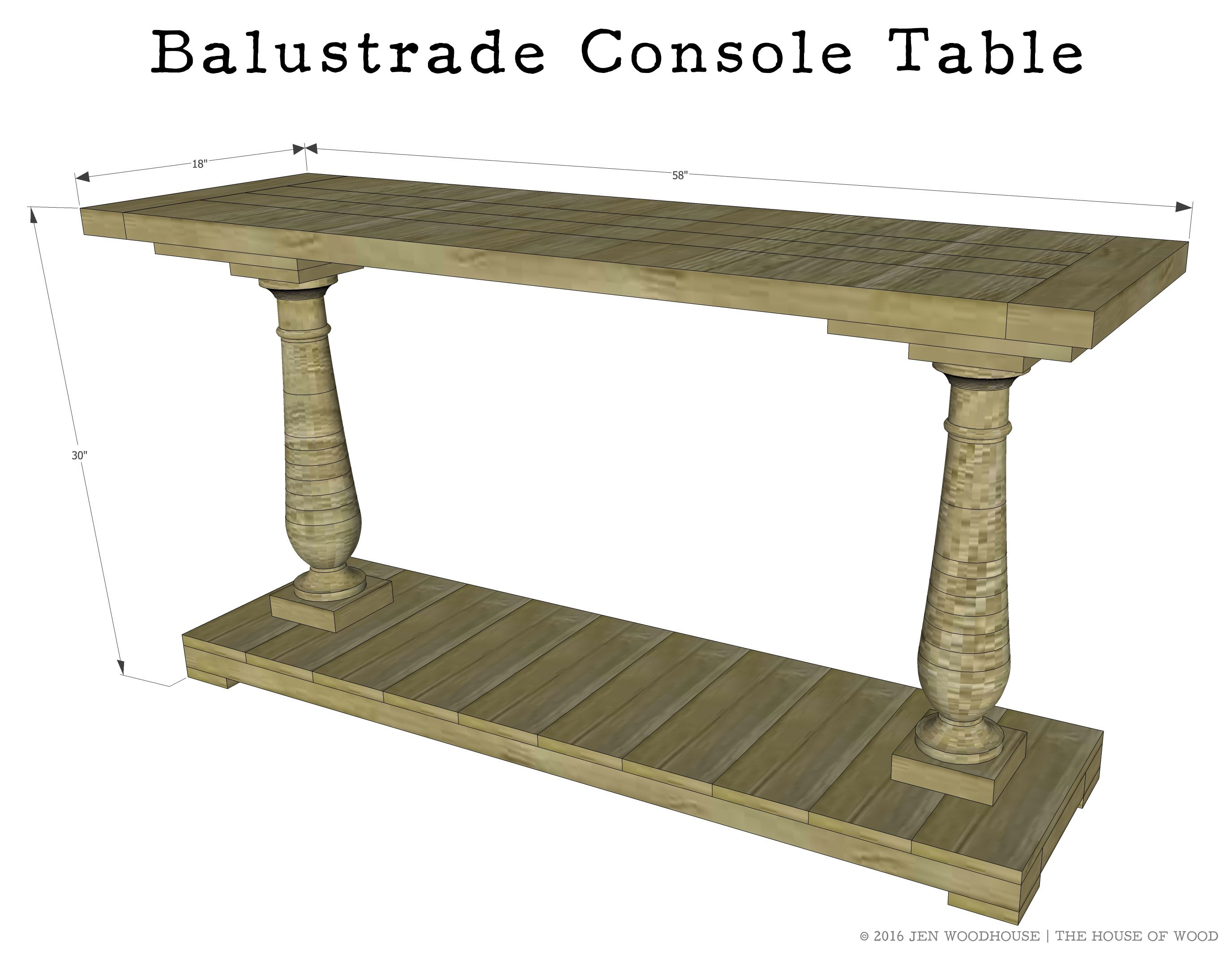 How to build a diy balustrade console table restoration hardware how to build a diy balustrade console table geotapseo Image collections