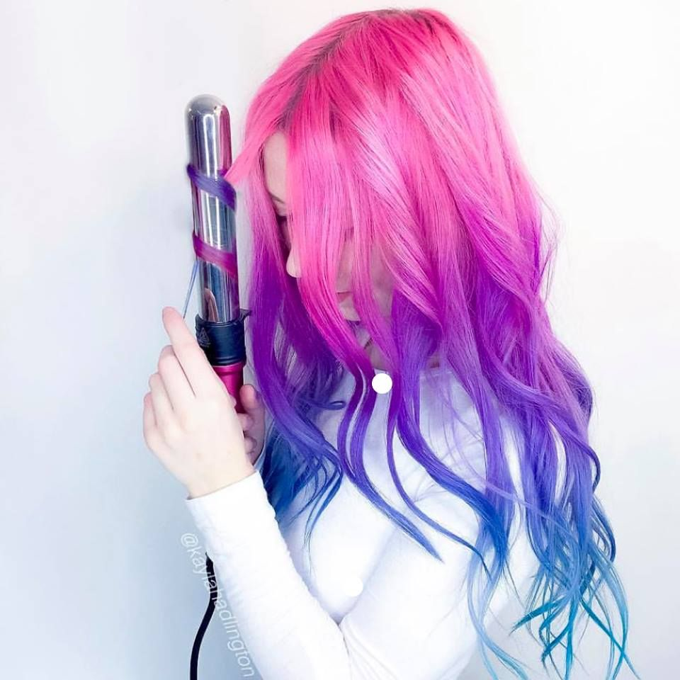 Colorful hair purplepinkblueteal in pinterest hair