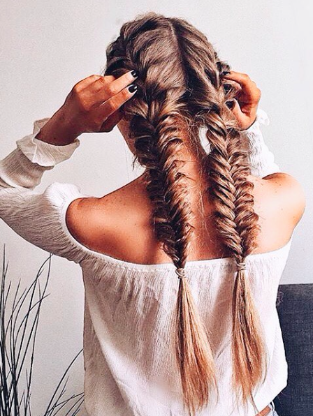 French Fish Tail Braids Hair Styles Long Hair Styles Hairstyle