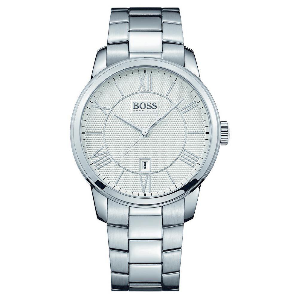 hugo boss 1512976 men s silver dial stainless steel bracelet date hugo boss 1512976 men s silver dial stainless steel bracelet date watch