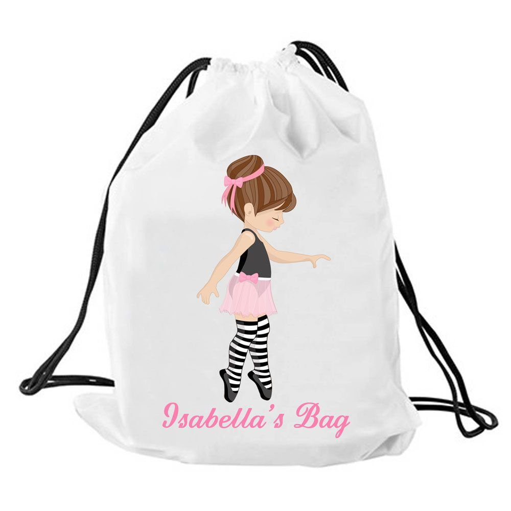 Personalized Ballet Bag Personalised Drawstring Dance Swimming Baby